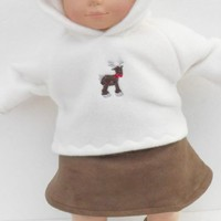 "Brown Skirt fits Cabbage Patch or Bitty Baby HANDMADE for 14,15,16"" doll clothes"