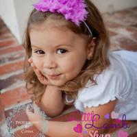 Violet Purple Summer Baby Girl Headband, Newborn Headband, Couture Baby Headband, Birthday Headband, Photography Props, Vintage Couture