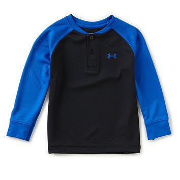 Under Armour Little Boys 2T-7 Raglan-Sleeve Henley Tee | Dillards