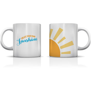 """Create Your Own Sunshine"" Set of Mugs by OneBellaCasa"