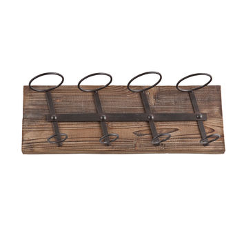 Inverted Oak Wine Rack
