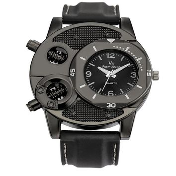 Men Quartz Watch Army Soldier Military Silica Strap Analog Wrist