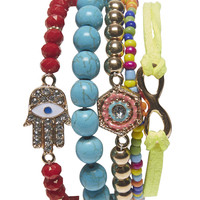 Mixed Bead Friendship Bracelet Set | Wet Seal