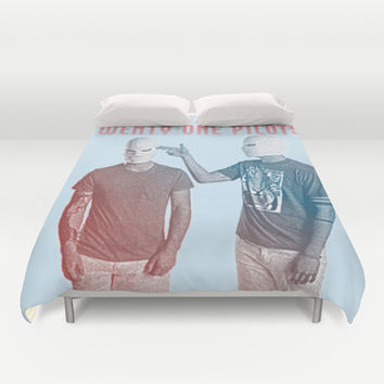 Twenty One Pilots Duvet Cover by Hands in the Sky