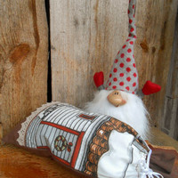 Christmas Sack Nordic Christmas Decor Scandinavian Houses God Jul Gift Bag Santa Sack Swedish Christmas Finland Tomte Gift Wrap