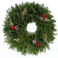24 in. Gold Signature Series Fraser Fir Real Christmas Wreath