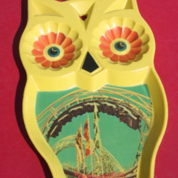 Opryland USA Tennessee Souvenir Vintage Plastic Owl Spoon Rest