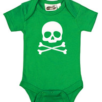Skull & Crossbones Green One Piece