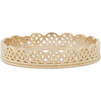 Gold Lace Band Ring