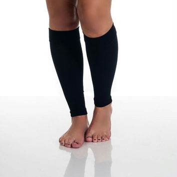 Remedy Calf Compression Running Sleeve Socks - Large-Black
