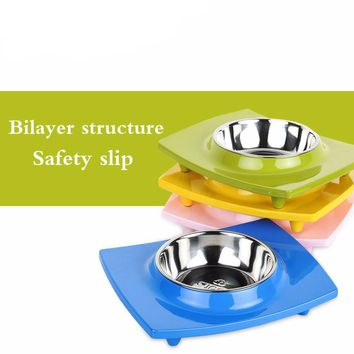 Pet Single Tray Eating Bowl - 4 Colors