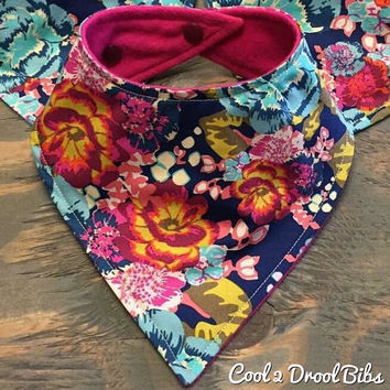 Baby Bandana Bib, Cool 2 Drool Bib, Baby / Toddler Bandana Bib, Drool Bib, Stylish, Art Gallery Boho Fusion Fashion Bibdana