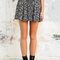 Pins & Needles Button-Through Floral Skirt in Black - Urban Outfitters