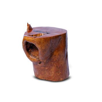 Natural Wood Form Tree Trunk Side Table