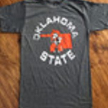 8116ff2fd3d Oklahoma State on Grey T-shirt from Country Lace Boutique