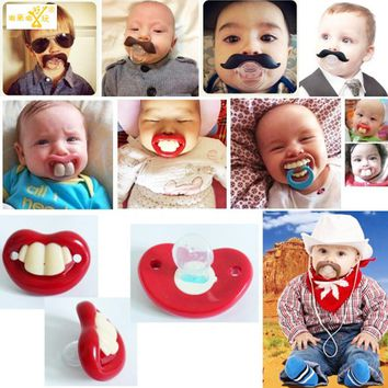 1 pic Soother Silicone funny pacifiers
