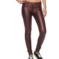 Almost Famous Burgundy Coated Skinny Jeans