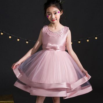 Dresses For Girls Clothes Summer Girls Dress Gown Kids Bridresmaid Wedding Dress Elegent Children Clothing Princess Vestidos