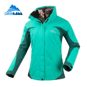 Cikrilan Stylish Camping Climbing Outdoor 2in1 Thermal Winter Jacket Women Windbreaker Water Repellent Outwear Chaquetas Mujer