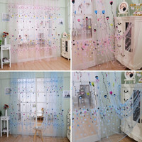 Balloon Tulle Voile Door Window Curtain Drape Panel Sheer Scarf Valances = 1958182084