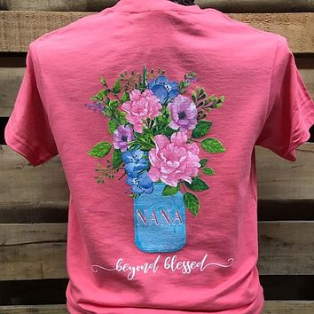 Southern Chics Nana Beyond Blessed Flowers Hammer T Shirt