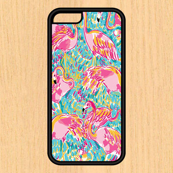 Flamingo Tropical Print Design Art iPhone 4 / 4s / 5 / 5s / 5c /6 / 6s /6+ Apple Samsung Galaxy S3 / S4 / S5 / S6