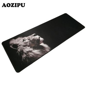 300x800mm Lion Gaming Mouse Pad Plain Extend Locking Edge No Slip Computer Mouse Mat Pad Game Rug Mousepad for CSGO Dota2 LOL