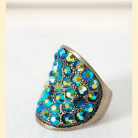 Beyond the Ocean Cocktail Ring