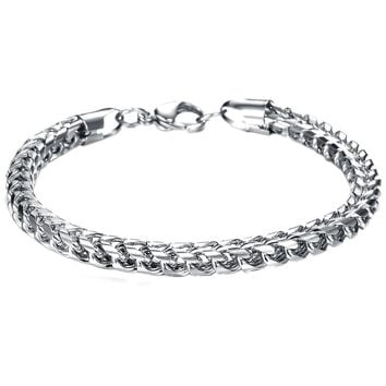 Hot Sale Summer Style Hand Chain Man Stainless Steel Snake Bracelet & Bangles Men Accessories Jewelry Gift for Best Friend HB88
