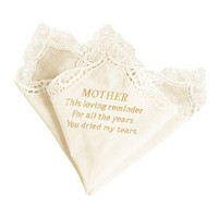 Ivy Lane Design Handkerchief, Mothers Tears, Ivory