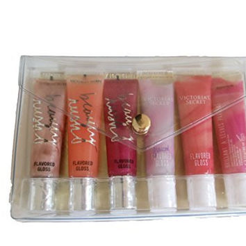 Victoria's Secret Beauty Rush Flavored Lip Gloss Gift Set (Set of 6)