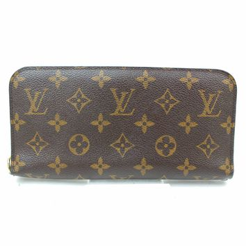 Authentic Louis Vuitton Long Wallet Insolite Browns Monogram 187019