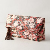 Rose Brocade Pouch by Anthropologie Pink One Size Clutches
