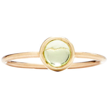 Gemstone Stacking Ring With Peridot