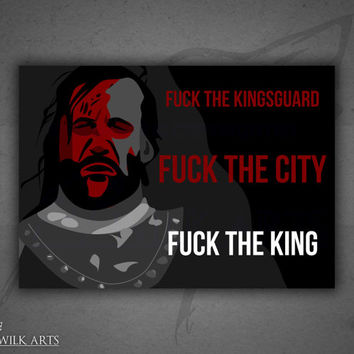 "Sandor ""Hound"" Clegane (Game of Thrones series) poster print"