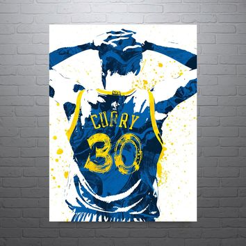 Stephen Curry Golden State Warriors 30 Jersey Poster