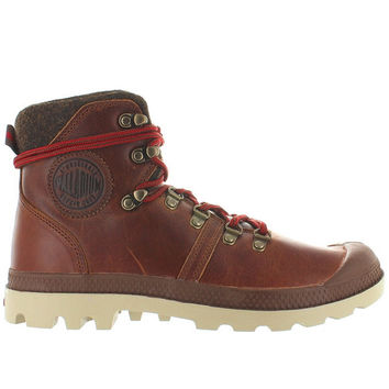 Palladium Pallabrouse Hiker - Sunrise/Red/Safari Leather Hiking Boot