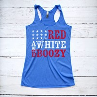 Red White and Boozy Fourth of July Tank Top