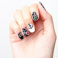 Amazon.com: Cute Flower Pattern Anchor Floral Nail Polish Strip Design Nail Decal Strips