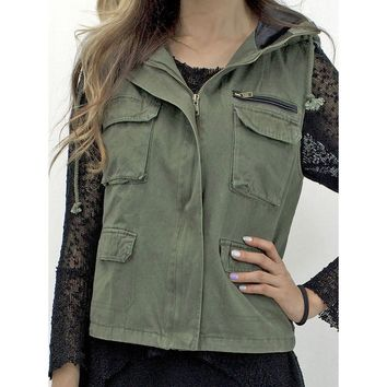 Relished Women's About Last Night Military Vest | Overstock.com Shopping - The Best Deals on Vests
