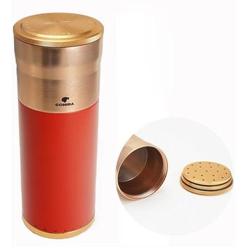 COHIBA Rose Gold Red Cigar Tube Humidor
