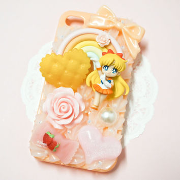 MADE TO ORDER Sailor Venus Rainbow Sweets Whipped Cream Handmade Custom iPhone Samsung Decoden Case