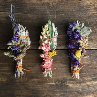 Small White Sage + Wildflower Smudge Sticks