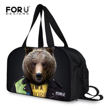 FORUDESIGNS Fashion Women's Travel Bag Cute Russia Bear Printing Travel Luggage Bag Sac De Shoulder Handbag Large Duffle Tote