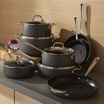 All-Clad ® HA1 Hard-Anodized Non-Stick 13-Piece Cookware Set with Bonus