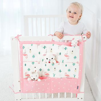 Brand New Baby Cot Bed Hanging Storage Bag Crib cot Organizer Storage Bag 60*50cm Toy Diaper Pocket for Crib Bedding Set