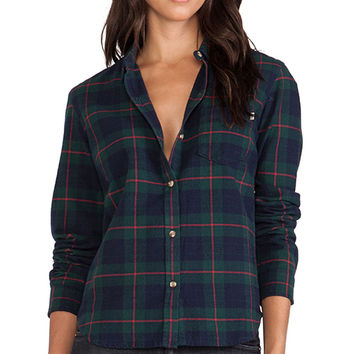 Obey Tree Bones Flannel in Green