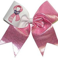 CUSTOM Logo Breast Cancer Awarness Hope Bow