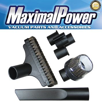 MaximalPower™ Vacuum Attachments Accessories Cleaning Kit for 1 1/4 inch including Upholstery Nozzle Crevice Nozzle Round Nozzle Tool Caddy