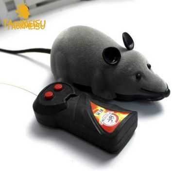 RDF Color Random Remote Control Wireless RC Rat For Cat Dog Mice Pet Toy Kids Novelty Funny Black Gray Brown Colors DY255